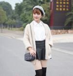 外套搭配短裙 矮个妞冬季这样穿最显高挑 - 广播电视台
