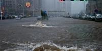 """台风""""温比亚""""登陆大连 市区开启""""看海""""模式 - 辽宁频道"""